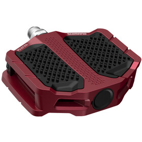 Shimano PD-EF205 Flat Pedals, red